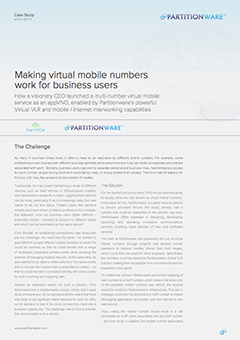 Making virtual mobile numbers work for business users